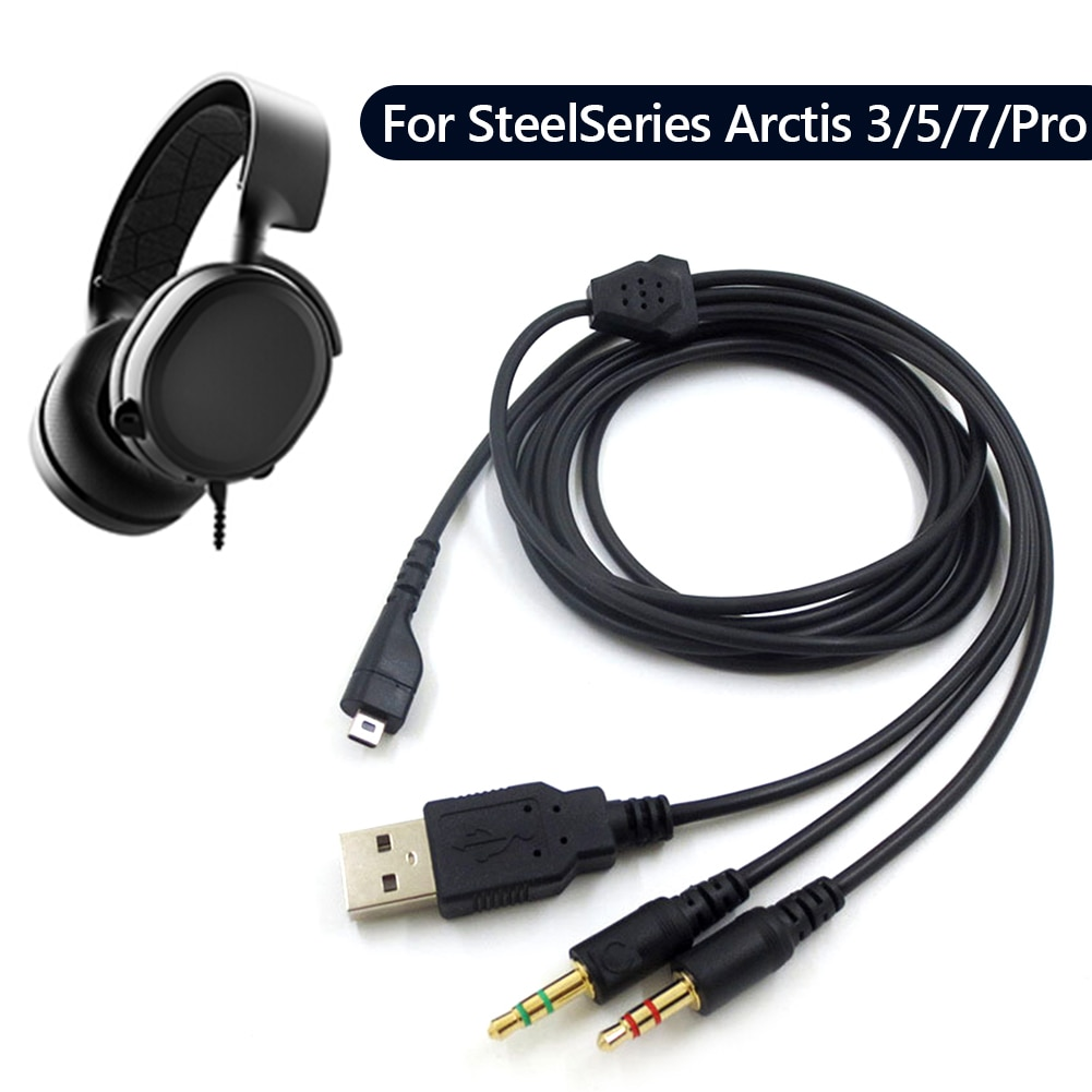 Replacement Gaming Headset Audio Cable for SteelSeries Arctis 3/5/7/Pro Headphones Audio Cord Earphone Accessories