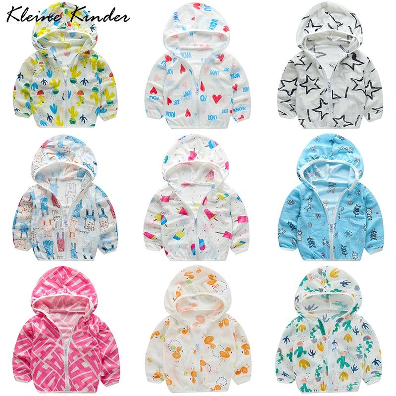 Children's Sun Jacket Girl Boy Kids Clothes Beach Outwear for Girls Summer Thin Sunscreen Jackets Seaside UV Protection Coat