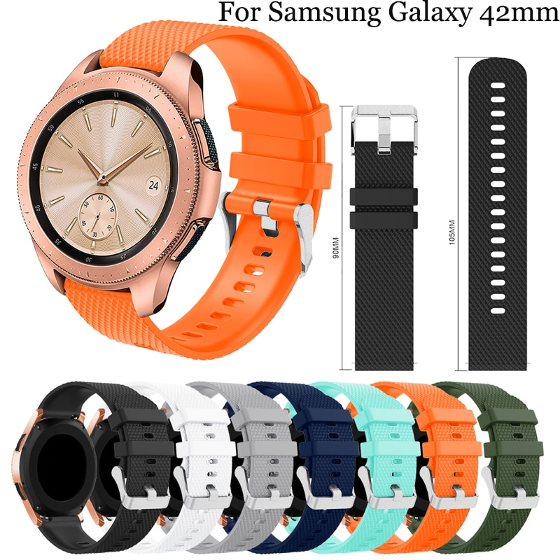 20mm silicone For Samsung Galaxy watch active strap Correa for samsung galaxy 42mm wristband