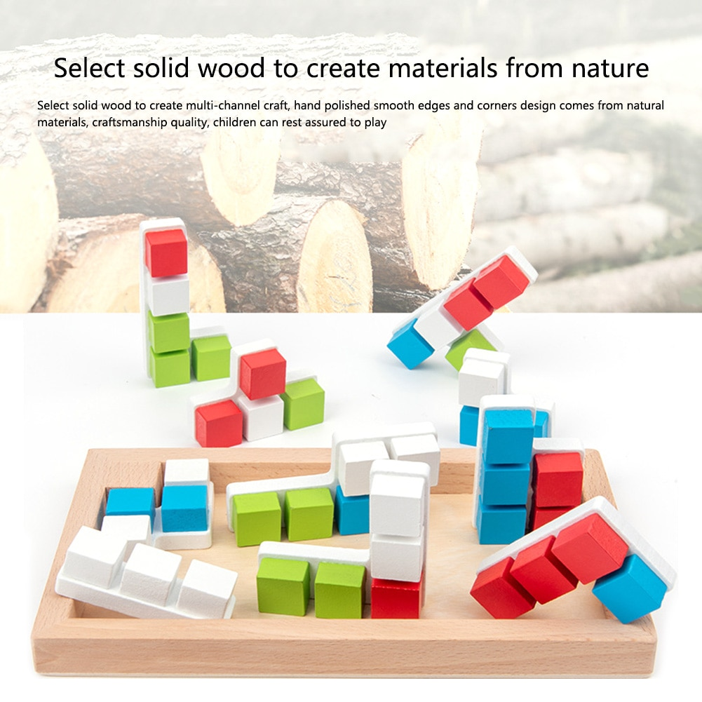 Child Kindergarten Teaching Aids Building Blocks Puzzle Square Puzzle Assemble Enlightenment Toys Early Learning Supplies