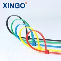 xingo 5x120mm self locking nylon cable zip ties plastic cable zip tie 50lbs ul rohs approved loop wrap bundle ties 100pcs