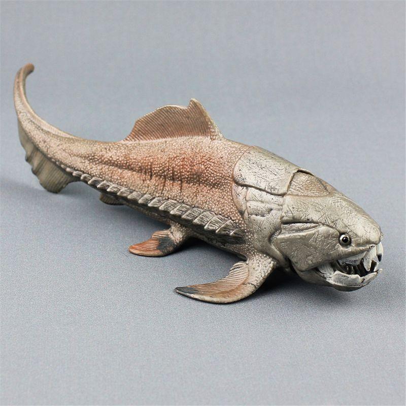 Dinosaurios de 20cm modelo de juguete Dunkleosteus dinosaurio decoración de pescado MODELO DE figura de acción juguetes para colección para niños brinqueded