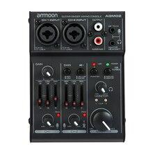 Canal carte son Console de mixage numérique Audio Mixer 2 bandes EQ intégré USB Home Studio enregistrement DJ réseau karaoké en direct