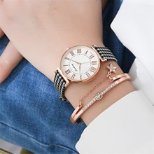 Zegarki Damskie 2020 Top Brand Student Women's Plaid Nylon strap Watchband Quartz Watch Women Luxury