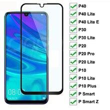 9D Gehard Glas Voor Huawei P40 P30 Lite E P Smart Z 2019 Screen Protector Beschermende Huawei P20 Pro P10 lite Plus Glas Film
