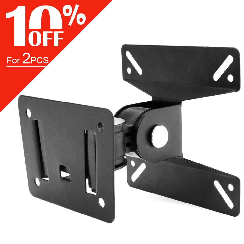AliExpress - 15KG Adjustable TV Wall Mount TV Holder Rotate TV Wall Bracket Support 180° Rotation for 14~27 Inch LCD LED Flat Panel Monitor
