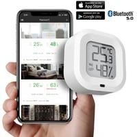 Mini 4PC Tuya Bluetooth Temperature Humidity Sensor Alarm System Device Smart Home Security Sensor Work With Alexa Google home