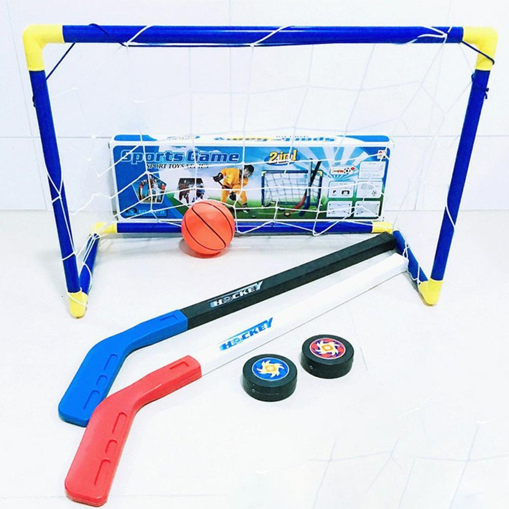 Juego de 2 palos de Golf de Hockey deportivo, juego de escritorio, familia, amigos, escuela, portátil, fiesta, pelota de Hockey, simulación de Golf