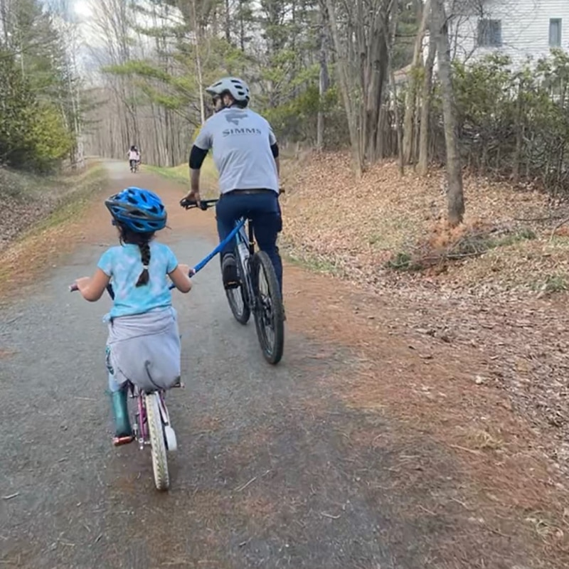 Высокопрочный нейлоновый эластичный трос для велосипеда для детей и родителей трос для езды на велосипеде грузоподъемностью 500 фунтов для ...