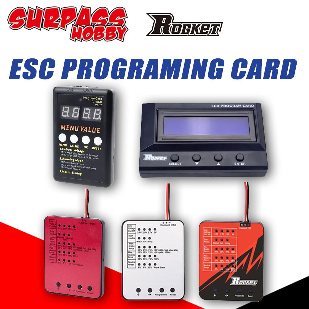 Surpass Hobby Rocket LED ESC Programing Card ESC Programme for 1/10 1/8 RC Car TS160 V2 25/35/45/60A/80A/120A/150A Motor Servo