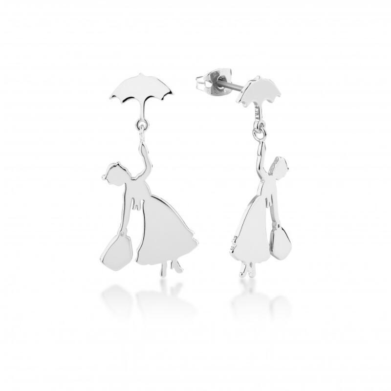 Mary Poppins colgando paraguas pendientes practicamente perfecto en cada forma de joyería de la madre, regalo de las mujeres Stud pendiente, venta al por mayor