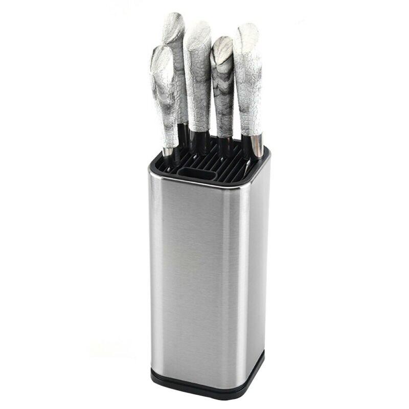 Soporte de cuchillos de acero inoxidable, estante de almacenaje con cortador, estante de cocina, estante de almacenaje con cortador, herramienta de corte de cocina, organizador de almacenamiento colgante