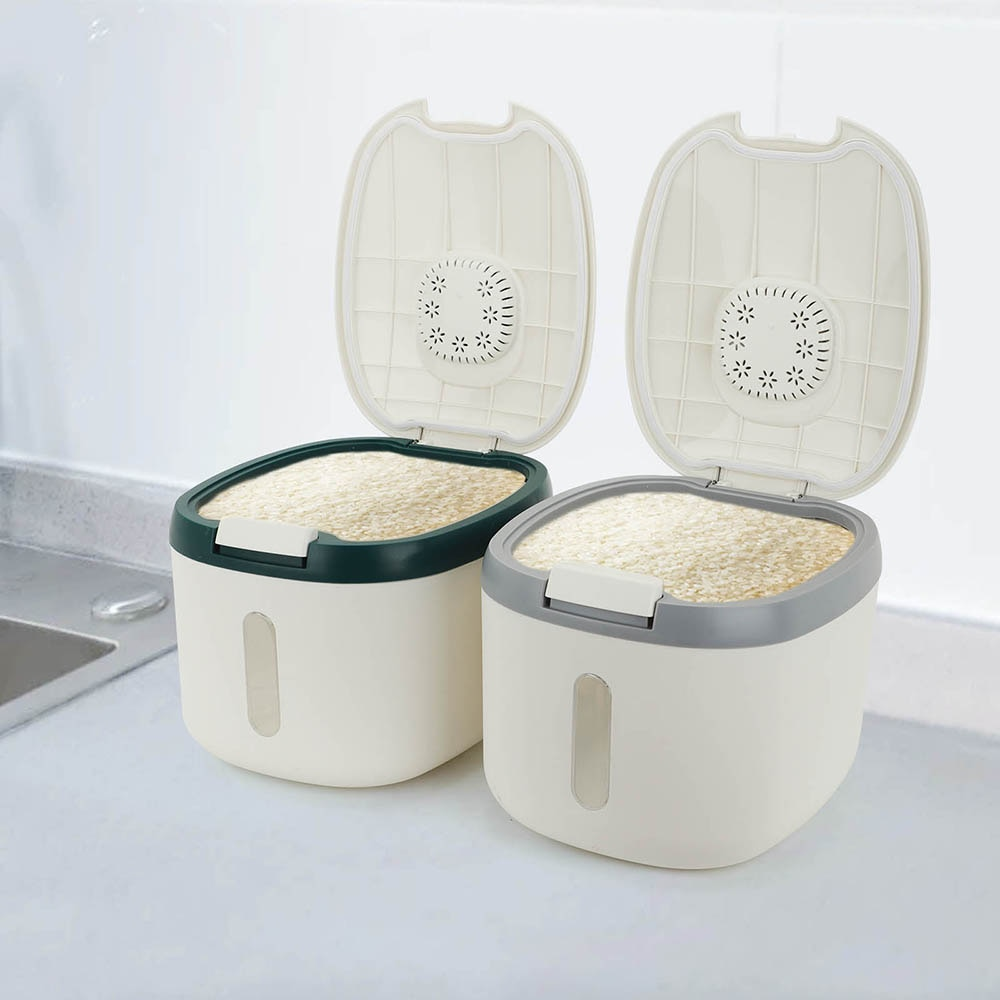 المطبخ الحاويات 5 كجم 10 كجم دلو نانو الحشرات واقية من الرطوبة الأرز الحبوب مختومة جرة تخزين المنزل طعام كلب أليف صندوق تخزين