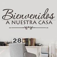 vinyl wall stickers spanish quotes offer bienvenidos a nuestra casa decals murals artist livingroom decoration wallpaper ru2094