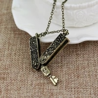 new style can be opened key shape pendant necklace mens necklace fashion metal sliding pendant accessories party jewelry