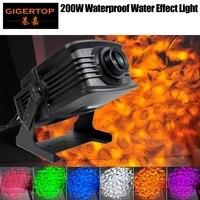 tiptop 200w waterproof water ripple led effect light dmx512 control 6 color redgreenbluewhiteamberpurple running high power