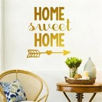 Nouveau Slogan anglais doux maison chambre porche decoration murale autocollant