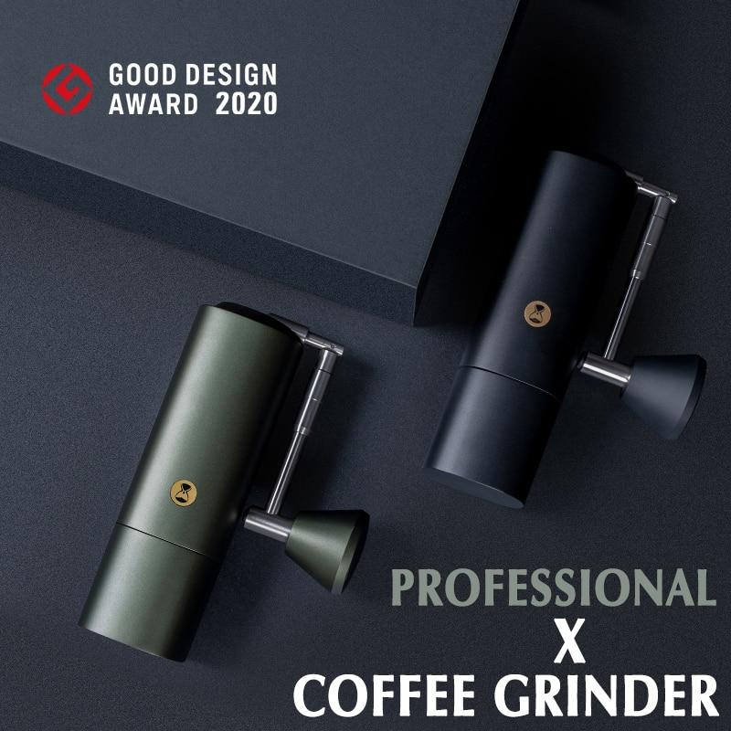 المهنية X Timemore طاحونة القهوة العلامة التجارية الجديدة تصميم آلة الكستناء طوي دليل طاحونة القهوة كامل المعادن لدغ طاحونة