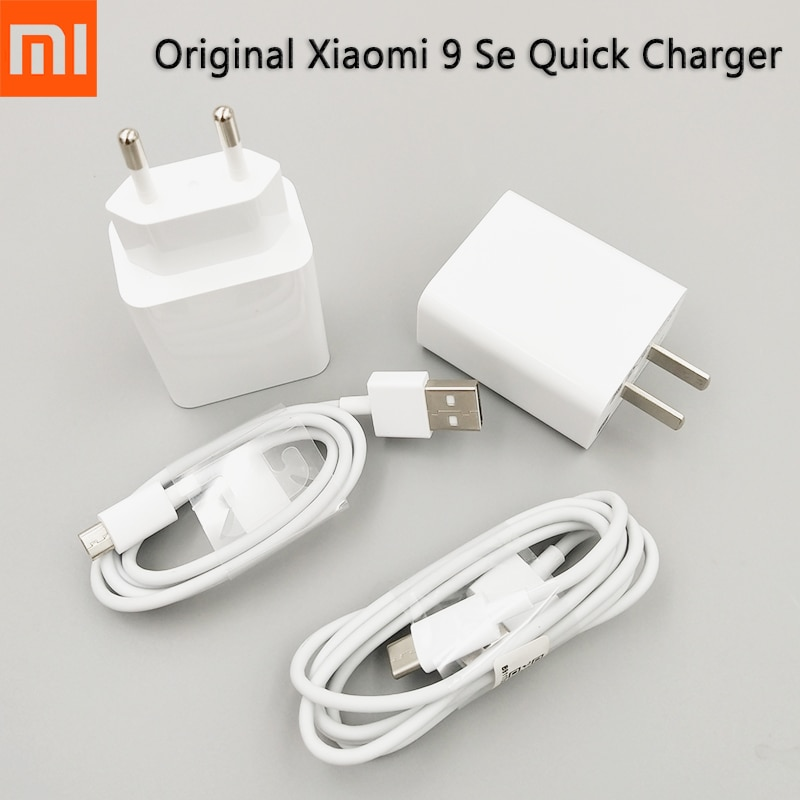 Xiaomi Mi 9 SE-cargador rápido QC3.0, adaptador de carga rápida de 18W, tipo C, Cable para Mi 9 8 se A3 Redmi Note 6 Pro 5 5A Note 8 8T K20 Pro