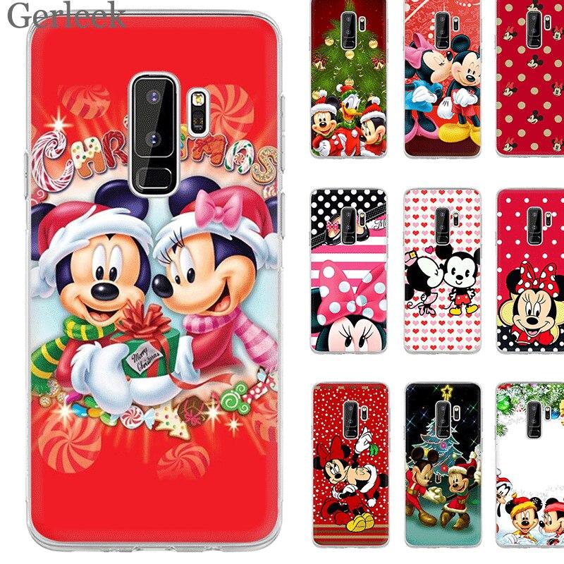 Desxz Cell Phone Case Mickey Minnie  Christmas For Samsung Galaxy A10 A30 A40 A50 A70 A3 A5 A6 A8 Plus Protector Cover