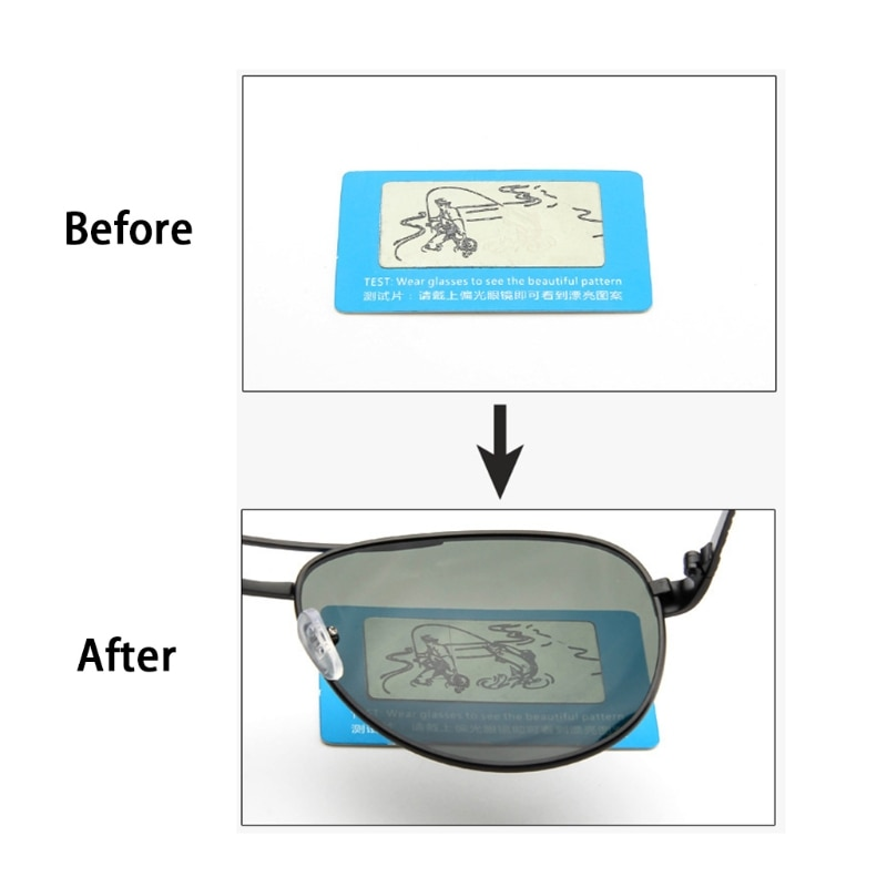 Durable Polarised Sunglasses Lens Shades Glasses Tester Testing Card Check Funny F3MD