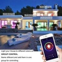 Ampoule LED Wifi intelligente  E27 RGBW  6W  fonctionne avec Alexa Google Home Assistant  aucun Hub requis