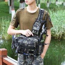 Multifunctional Fishing Tackle Bags Single Shoulder Crossbody Bag Waist Pack Fish Lures Gear Utility