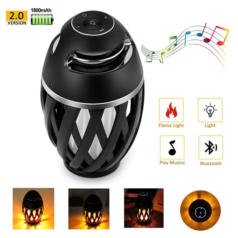 LED Flame Light Bluetooth Speaker Wireless Portable Speaker Loudspeaker Player LED  Flame Torch Light Flicker Light Soundbar enlarge