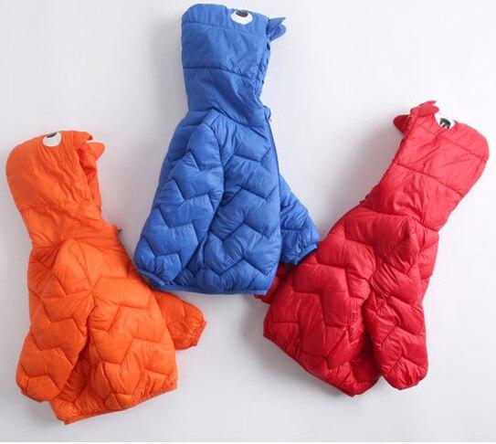 Enfants garçons vestes légères hiver canard vers le bas manteau bébé filles vestes parka sweats à capuche vêtements dextérieur 1-6T