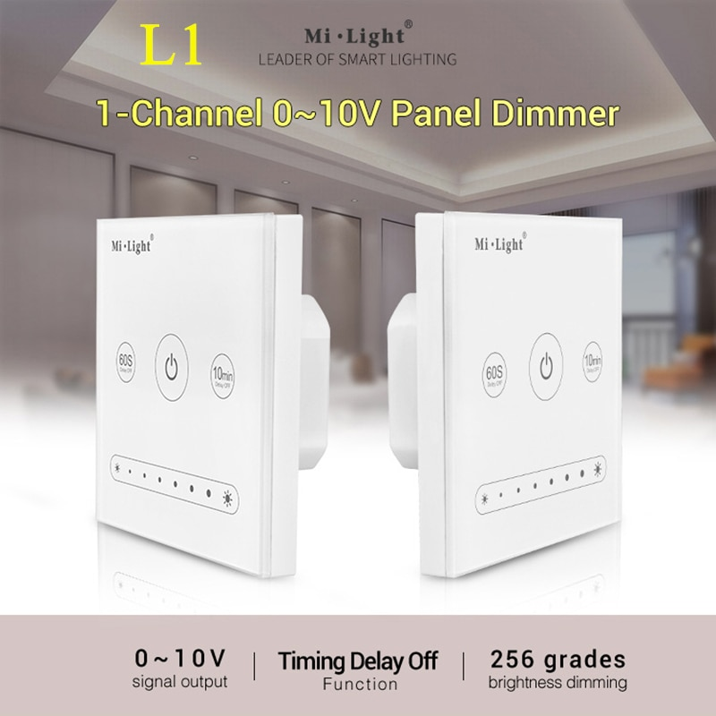 Miboxer L1 1-Channel 0~10V LED Touch Panel Dimmer Switch Dimming Wifi Remote Controller for Single Color LED Strip Light