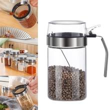 Mini pot à épices en verre transparent ensemble de contenants avec couvercles hermétiques cuillère accessoires de cuisine E2S
