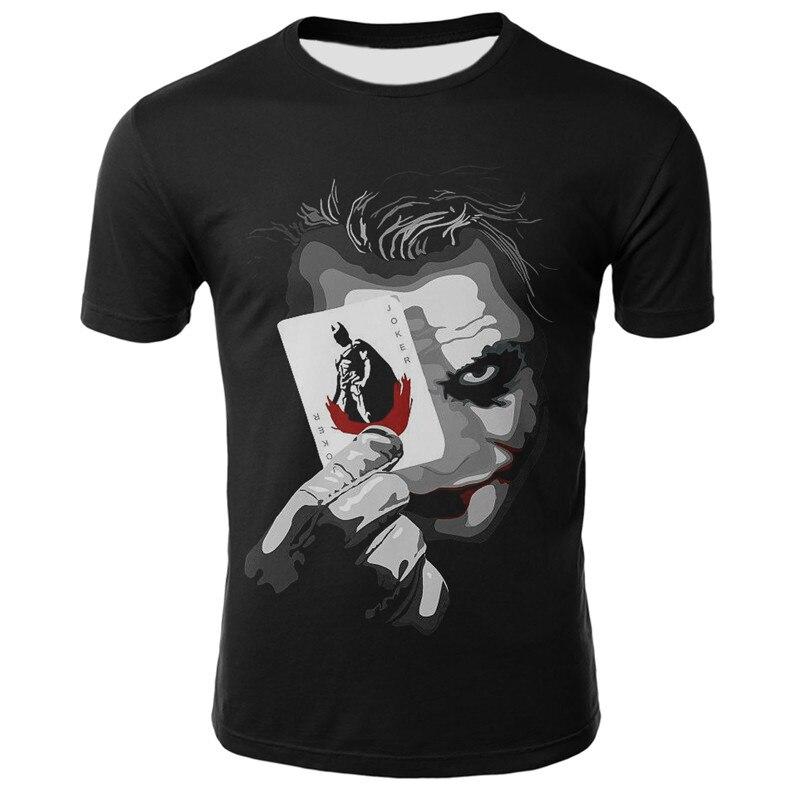 Verão 2020 nova camisa de palhaço 3d selvagem casual moda camiseta de manga curta camiseta piada menino jaqueta legal camiseta roupas masculinas