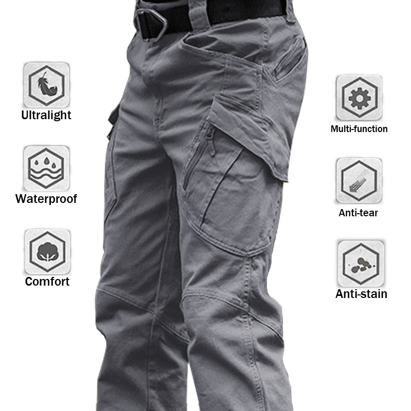 6XL City Military Tactical Pants Elastic SWAT Combat Army Trousers Many Pockets Waterproof Wear Resistant Casual Cargo Pants Men