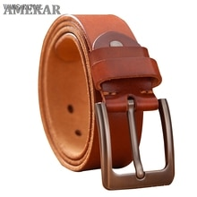 Top Leather Cowhide Belt Fashion Genuine Leather Men Belt Alloy Buckle Strap For Male Wide Cinto Mas
