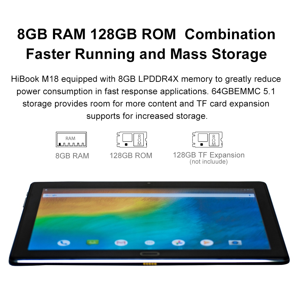 10.8 inch 8GB RAM 128GB ROM Tablet MTK6797 Helio X23 Deca Core 2560x1600 Android 9 Dual WiFi 4G Network OTG Type-C 2in1 Tablets enlarge