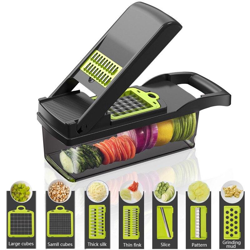Gemüse Chopper Slicer Dicer Veggie Lebensmittel Cutter Zwiebel Chopper Manuelle Mandoline Obst Kartoffel Schäler für Knoblauch Kohl Karotte