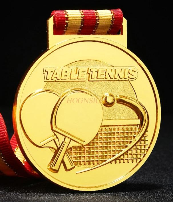 Общие медали для соревнований по настольному теннису коллективные медали золотые серебряные и бронзовые медали 2021