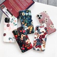 Impression de luxe Feuilles Florales Housse Pour iPhone XS Max XR X Rétro IMD Silicone Souple Étui à Fleurs Pour iPhone 8 7 Plus 6s 6 Capa