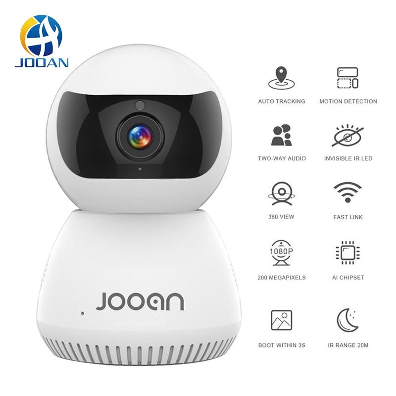Cámara Jooan Wifi 1080P WiFi en casa cámara IP visión nocturna Cámara inteligente Webcam Video vigilancia detección de movimiento visualización móvil