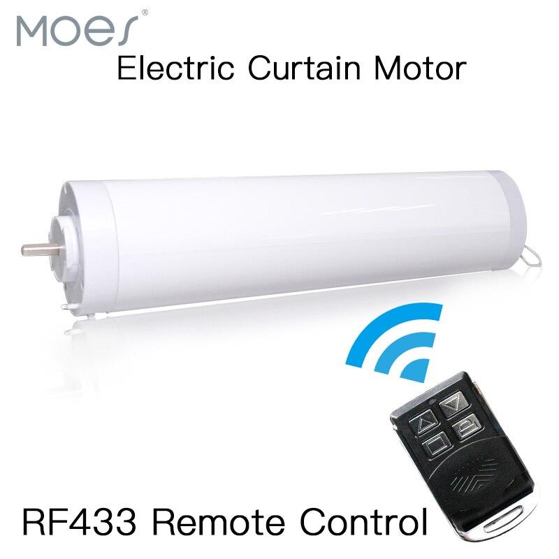 Motor de cortina eléctrica automático ventanas cerradas Motor motorizado 433MHZ Control remoto para hogar inteligente 5 cables