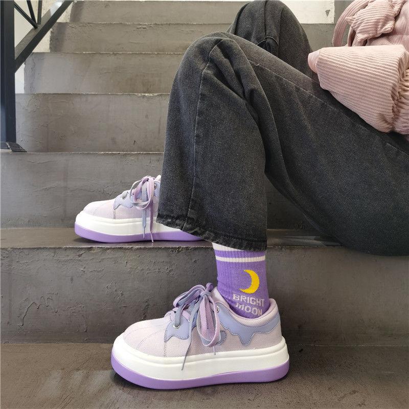 Sneakers Women's Sports Shoes Lolita Kawaii Harajuku Platform 2021 Spring Tennis Casual Basket Vulcanize Running Anime Trainers