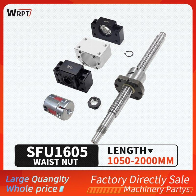 Cnc الخصر الجوز الكرة المسمار sfu1605-4-1050-2000mm ، sfu1605-4 bkbf/ekef/fkff12 معالجة ، dsg16h ، xb25 * 30 ، خاص للطابعة