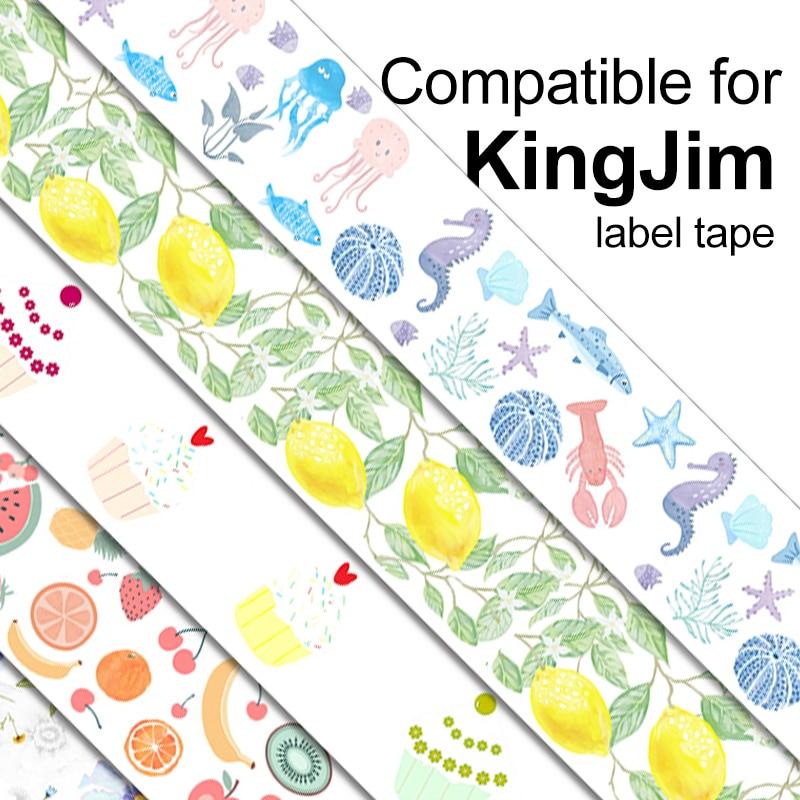 1 Unidad Compatible Con Cintas Adhesivas Kingjim 15mm 2m Para Impresoras De Etiquetas Lr20c Lr5c Lr Rk1c Tepra Lite Piezas De Impresora Aliexpress