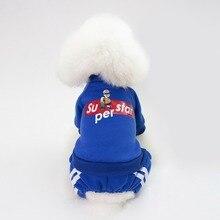 PUOUPUOU Cartoon Letter Dog Clothes Winter Warm Dogs Coat Jacket Sweatshirt Soft Cotton Pet Clothes Cute Ropa Para Perros XS-XXL