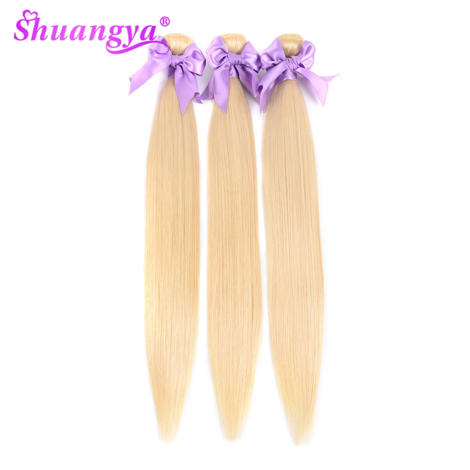 613 Bundles Peruvian Straight Bundles Human Hair Honey Blonde 1/3/4 Bundles Remy Hair 8-28 Inch Human Hair 613 Hair extension