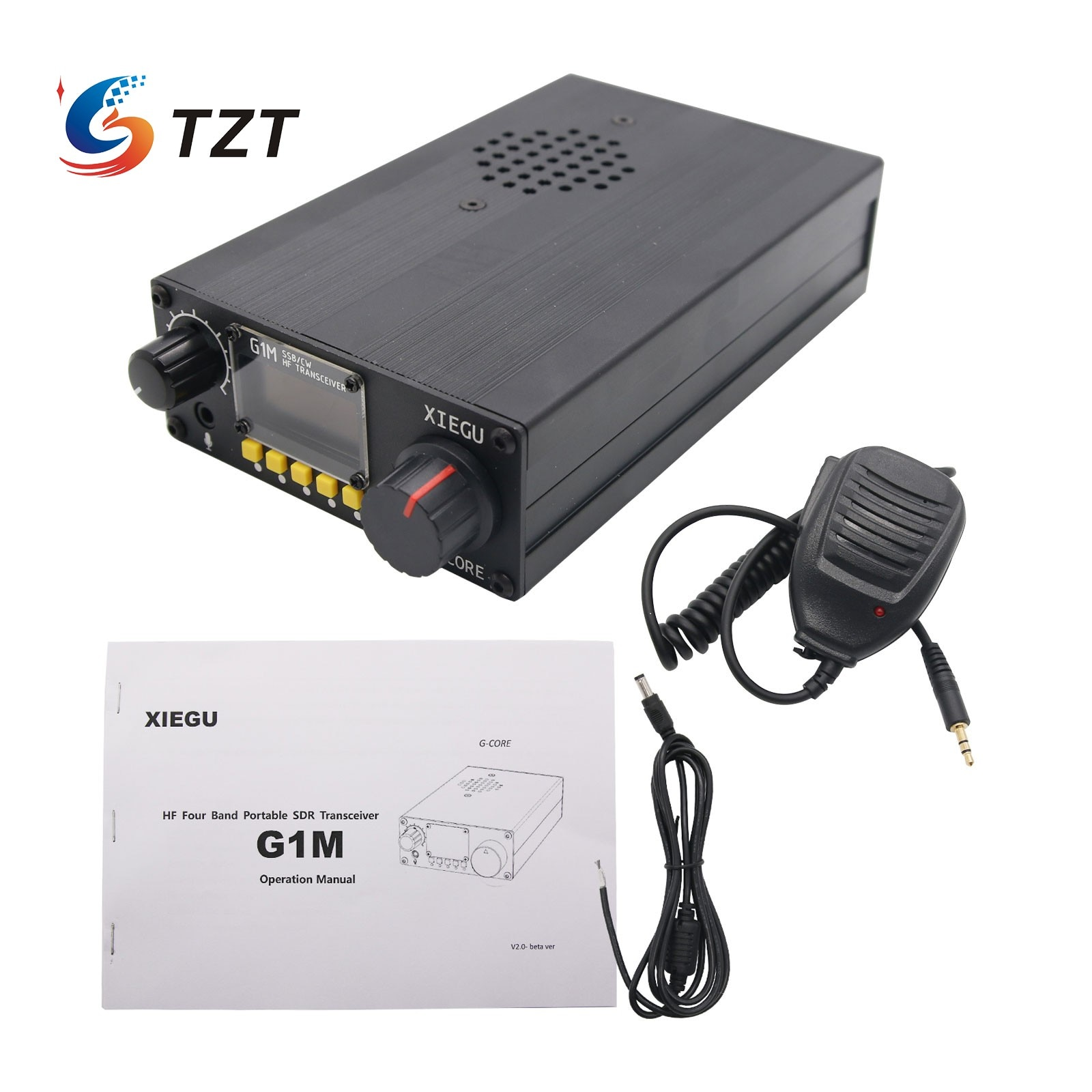 TZT لراديو XIEGU G1M رباعية SDR SSB/CW 0.5-30MHz موبلي راديو HF جهاز إرسال واستقبال هام QRP