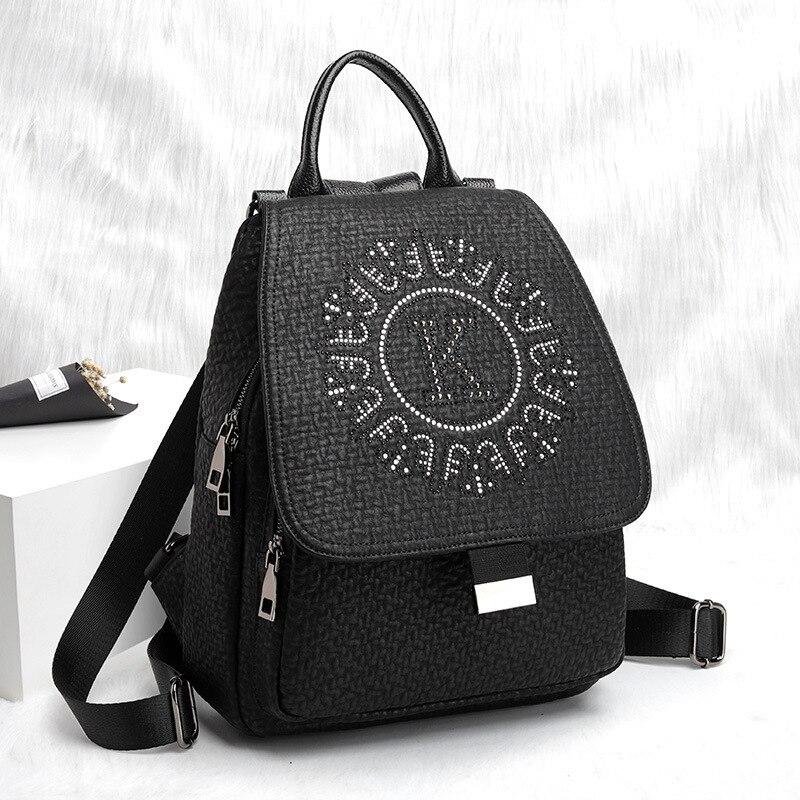 حقيبة ظهر للفتيات في سن المراهقة من ديموند حقيبة ظهر للفتيات من الجلد الطبيعي حقائب مدرسية للنساء حقيبة ظهر Eastpack 2022 كيس دوس إكول