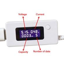 Chargeur USB capacité tension actuelle 3-15V testeur mètre pour téléphone portable charge puissance LCD affichage Volt Amp moniteur pour batterie