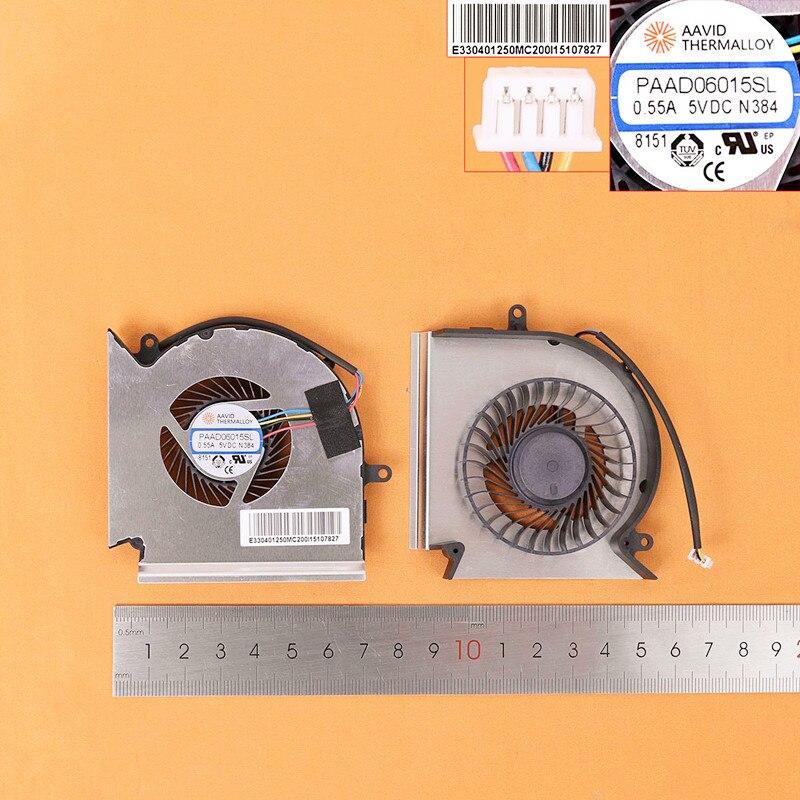 مروحة تبريد لابتوب جديدة, لمروحة وحدة المعالجة المركزية للحاسوب المحمول MSI GE75 GP75 GE63 GP63 GV63 GE73 GL73 VR (الأصلية ، الإصدار 2) PN:PAAD06015SL