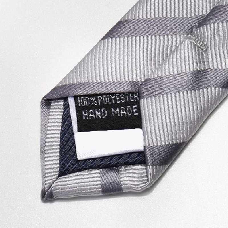 High Quality 2020 Designer New Fashion Silver Grey Striped 8cm Ties for Men Necktie Party Business Formal Suit with Gift Box